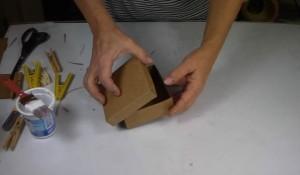 Caixinha de papelão passo a passo