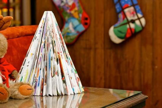 Reciclagem de revista para passo a passo de Natal