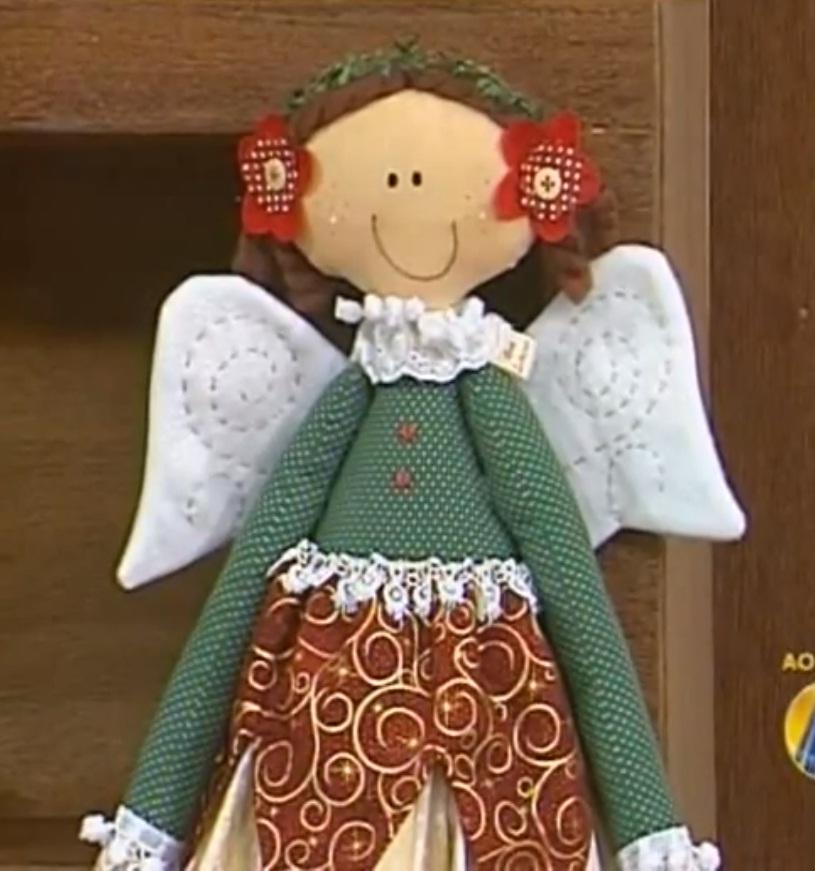 Artesanato Vintage Passo A Passo ~ Como fazer uma fada natalina em tecido u2013 TV Artesan