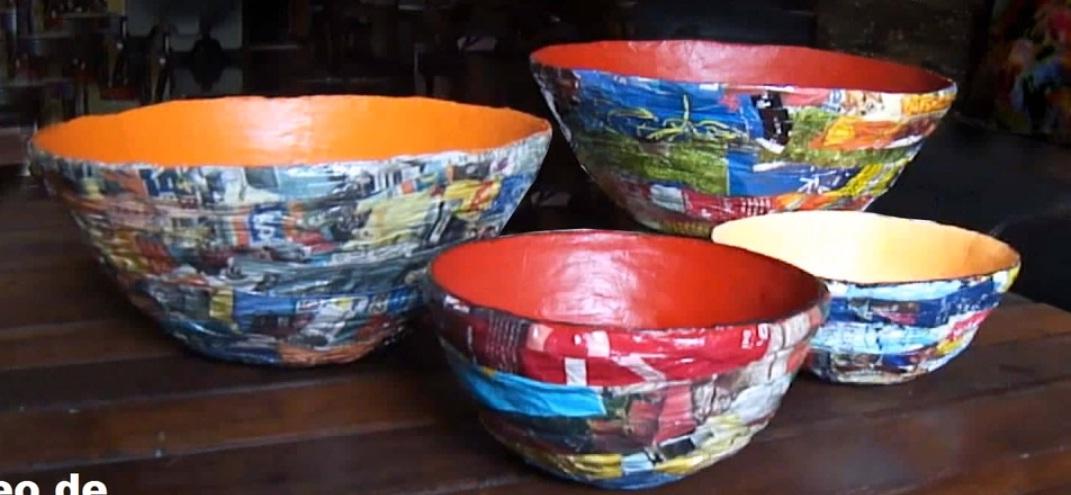 Armario Ordenado Metodo Konmari ~ Aprenda a fazer lindas vasilhas feitas com jornal