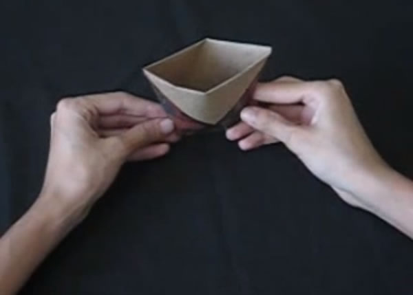 Vasinho de dobradura passo a passo