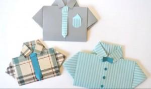 Artesanato origami para o dia dos pais