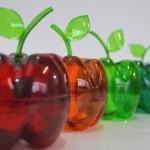 Maçãs com garrafa reciclada pet passo a passo