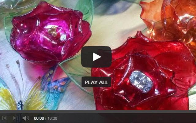 flores flores e rosas de garrafa pet passo a passo