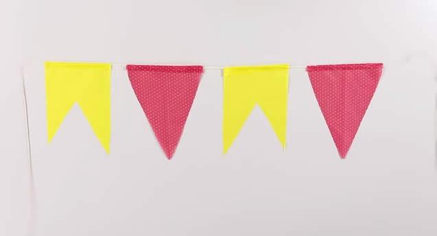 Favoritos Como fazer bandeirinhas para festa de São João passo a passo LU01