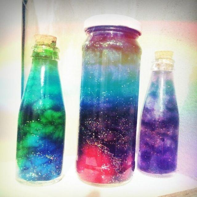 exemplos de galaxia no potinho com reciclagem de vidro