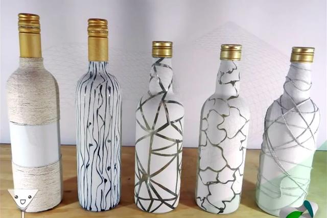 Como Decorar garrafas de vidro recicladas - vários modelos