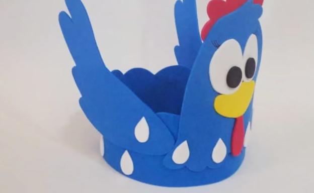 galinha pintadinha em eva feita com moldes para artesanato