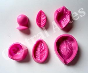 Exemplo de molde frisador para flor em EVA