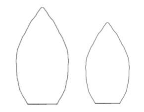 Molde desenhado para flor em EVA