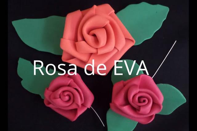 rosa em EVA pronta
