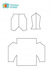 molde de gravat, camisa e colete para cartão de dia dos pais