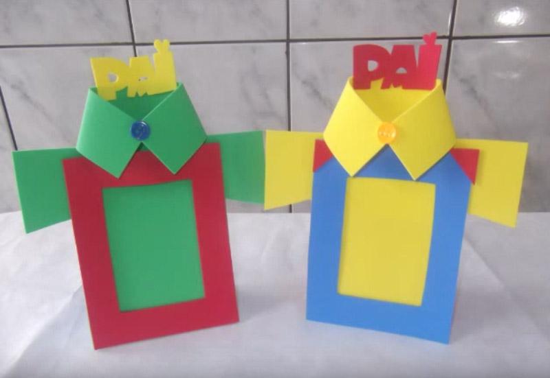 Aparador Hall De Entrada Apartamento ~ Como Fazer porta Retrato para o Dia dos Pais Artesanato