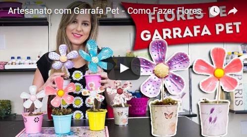 como fazer flores de plástico