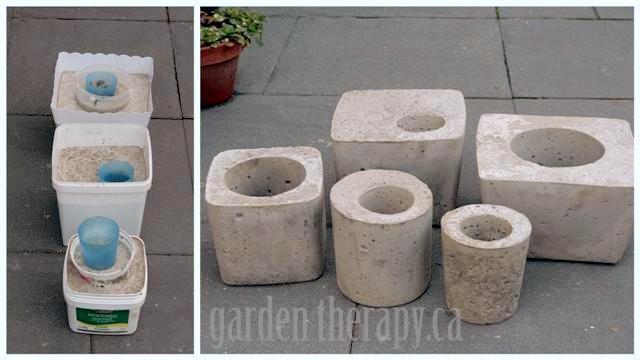 Como fazer vasos de cimento grrandes