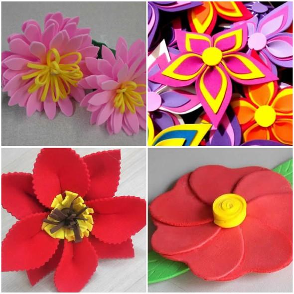 Adesivo De Parede Emoji ~ 10 Flores de EVA com Moldes para Decoraç u00e3o passo a passo