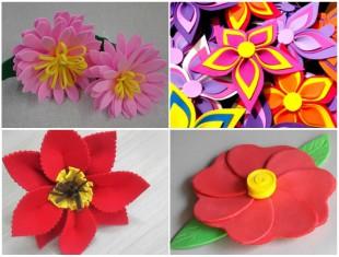 Flores de EVA para Decoração com Moldes