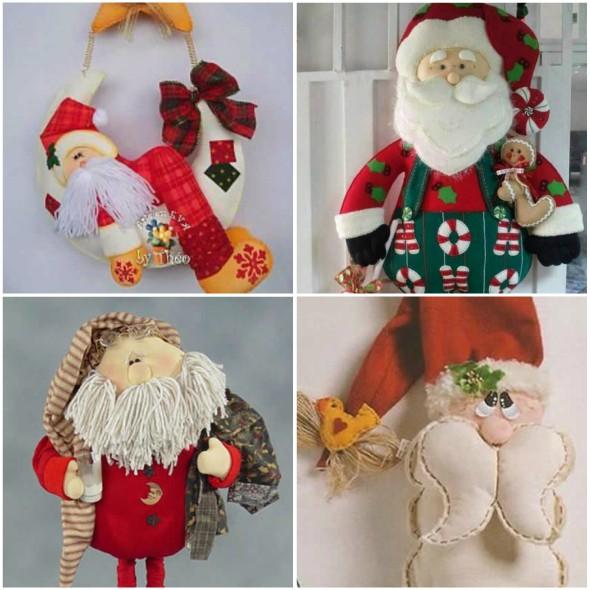 Papai Noel de Feltro Super Fofinho para o Natal com Moldes