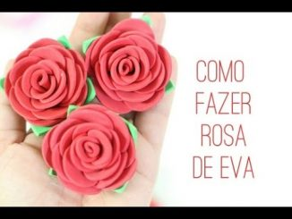 Como fazer rosa de EVA