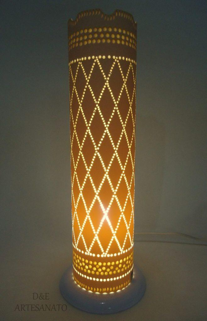 luminária de cano pvc