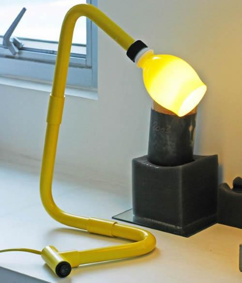 luminária de canos pvc