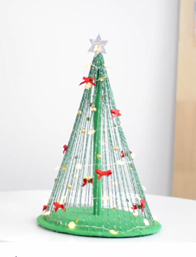 Mini Árvore de Natal para Decoração passo a passo