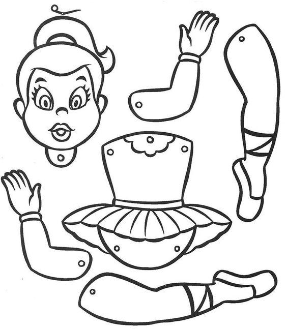 como imprimir molde de artesanato boneca