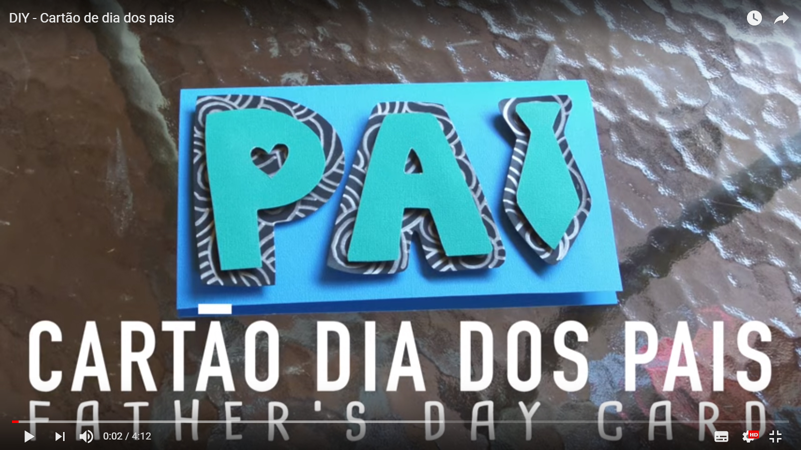 como fazer um cartão do dia dos pais, passo a passo