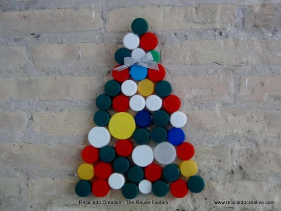 artesanato árvore de garrafa pet reciclada
