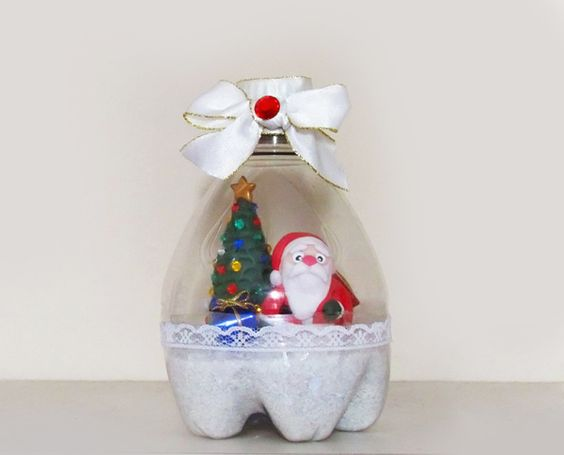como fazer globo de neve de garrafa pet (9)