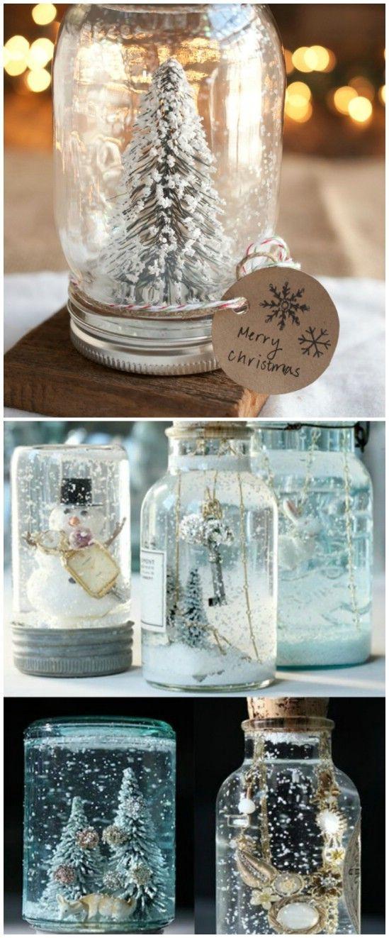 como fazer globo de neve de garrafa pet