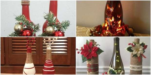 Artesanatos com Garrafas para Natal