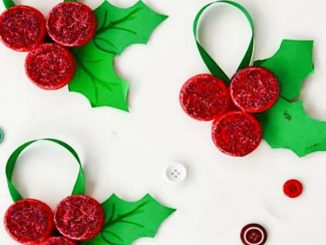 Enfeite de Natal com Tampinhas de Garrafa PET