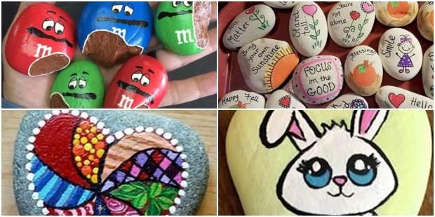 Artesanatos com Pintura em Pedras