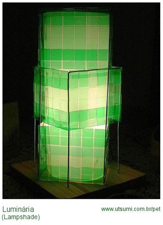 luminária de garrafa pet reciclada