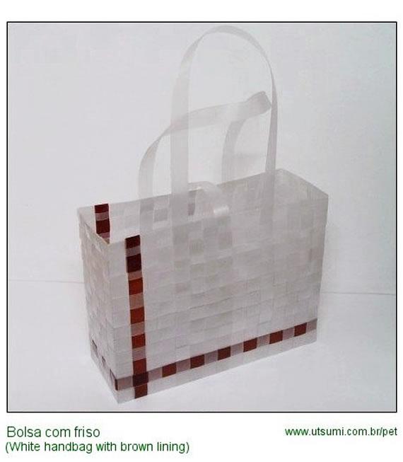 bolsa com fios de pet