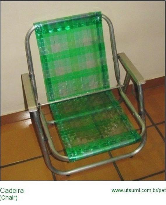 cadeira com fios de pet