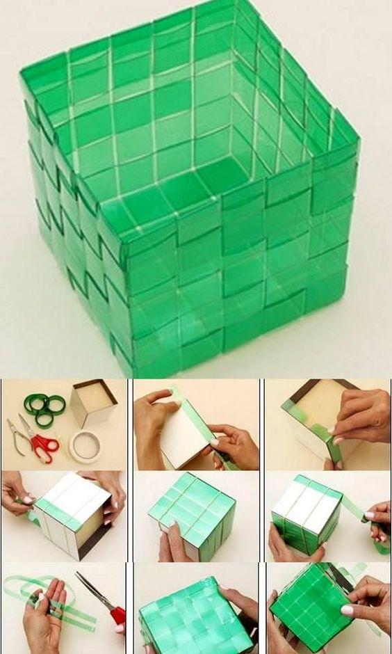 caixa com fios de garrafa pet como fazer um filetador de garrafa pet