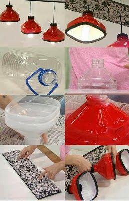 lustre laqueado de garrafa pet