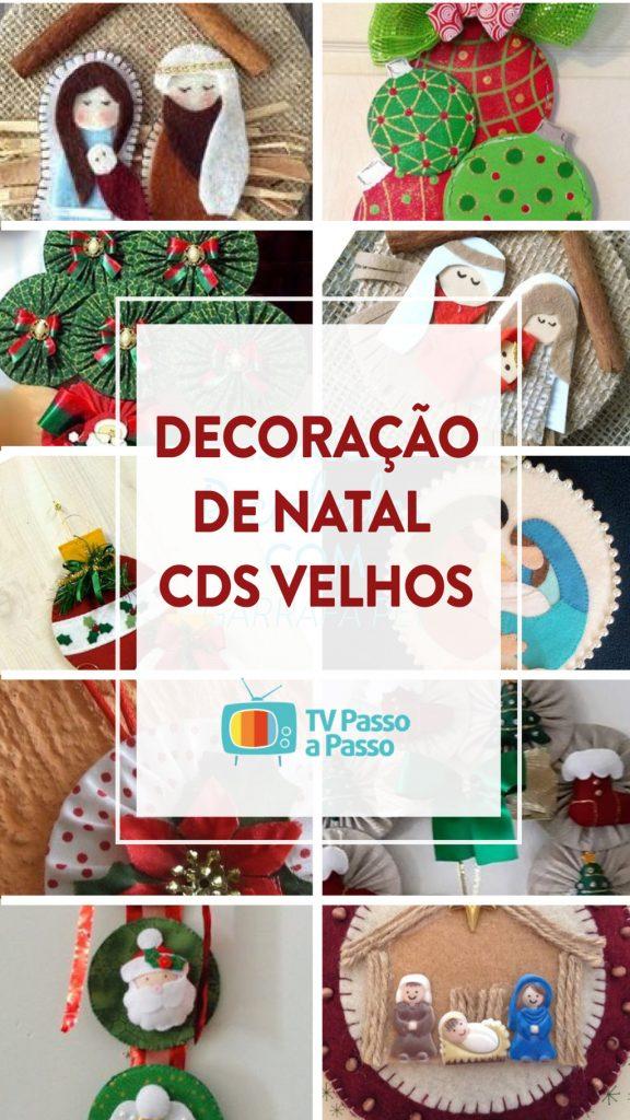 Enfeites de natal com CD's