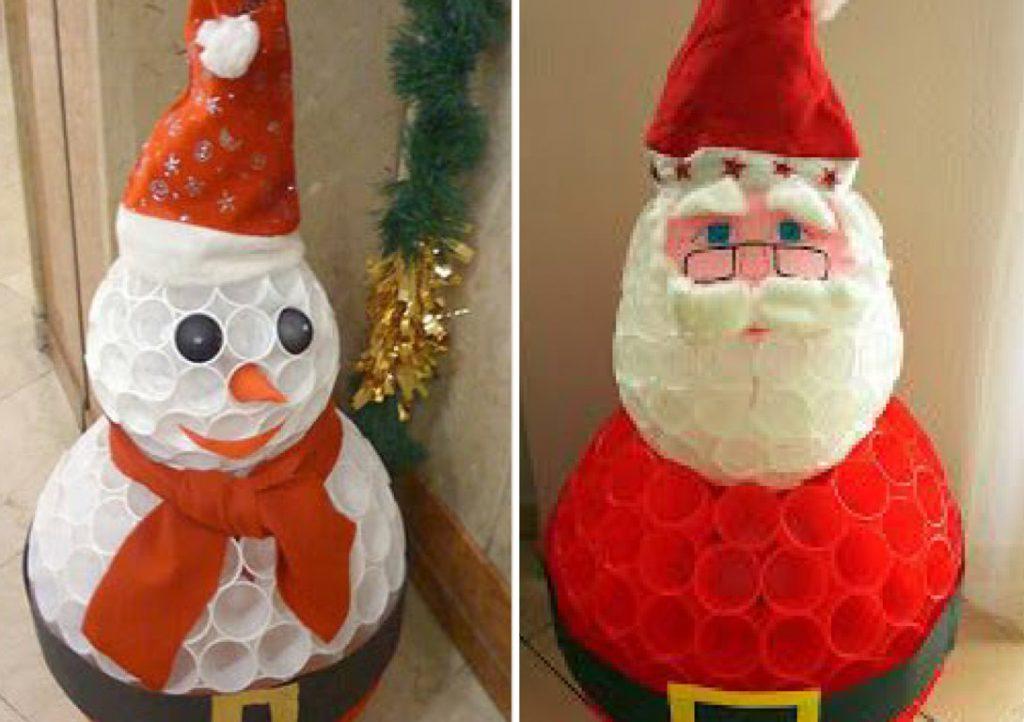 Hoje trouxemos 2 vídeos passo a passo de como montar papai noel com copos para o natal.