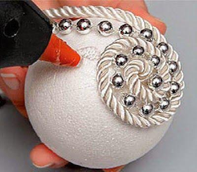 Bolas de natal com bola de isopor