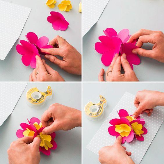 cartão 3D para o Dia das Mães
