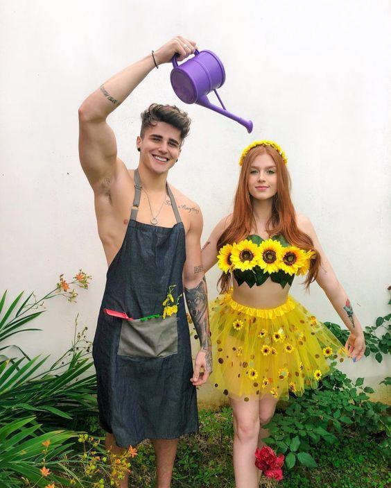 fantasia de flor e jardineiro