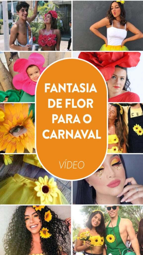 fantasia de flor para o carnaval