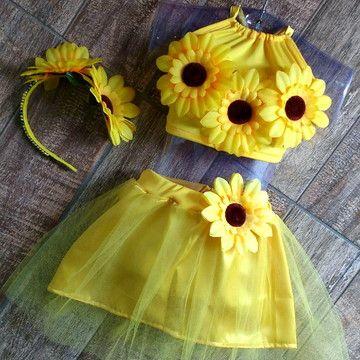 fantasia de flor infantil para o carnaval