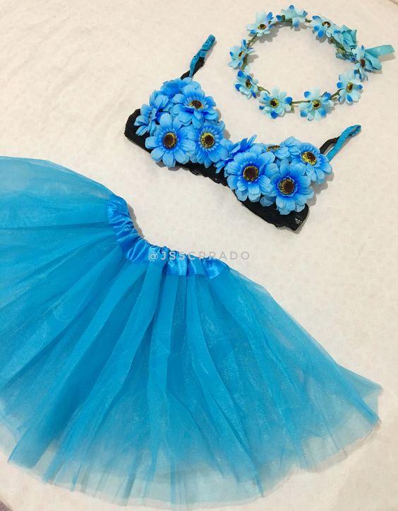 fantasia de flor azul