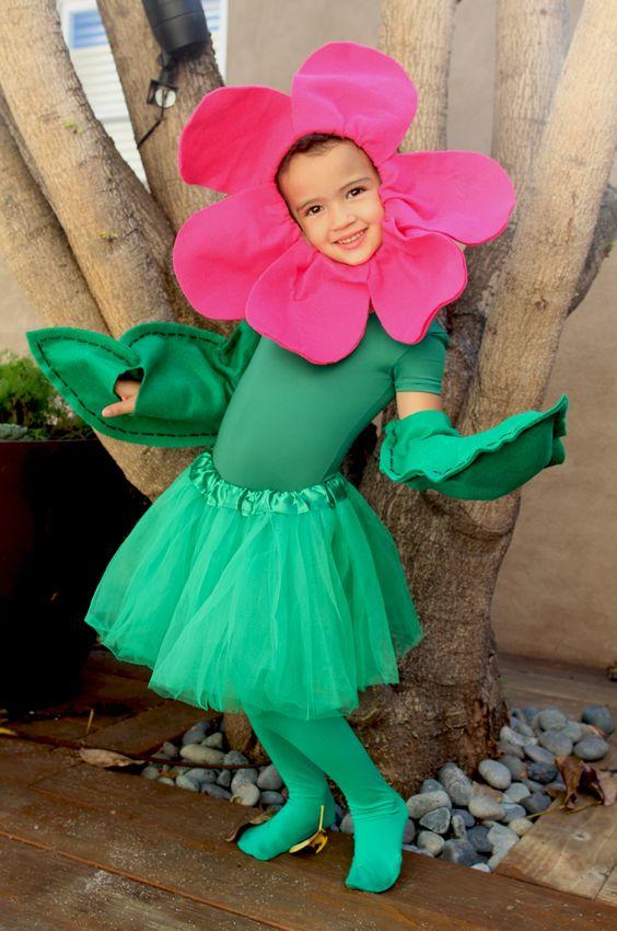 fantasia de flor infantil