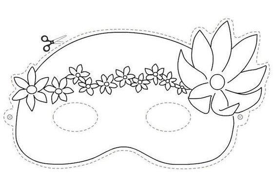 máscara de flor para carnaval