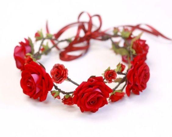 tiara para fantasia de rosas